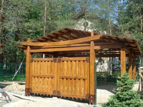 ворота и калитки из дерева, изготовление и монтаж ворот Киев,