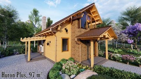 Лучший дом, теплый дом Киев, проект деревянного дома, дом из натуральных материалов Киев,