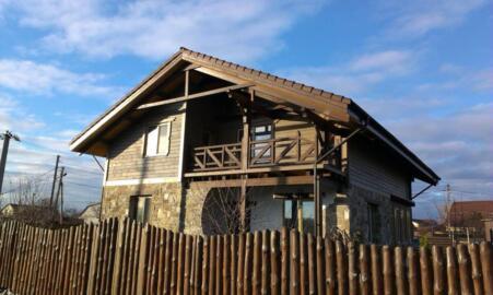 Дом в стиле шале, строительство каркасных домов в стиле шале Киев, дом из натуральных материалов, Деревянный дом Киев, Какой дом лучше построить?