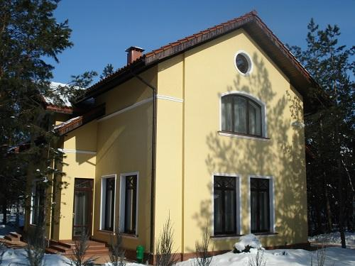 Дом с мансардой, каркасный дом Киевская область, монтаж натуральной черепицы, крыши под натуральную черепицу Киев,