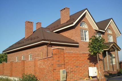 Дома из клинкера, фасады из клинкера, монтаж натуральной черепицы Киевская область,
